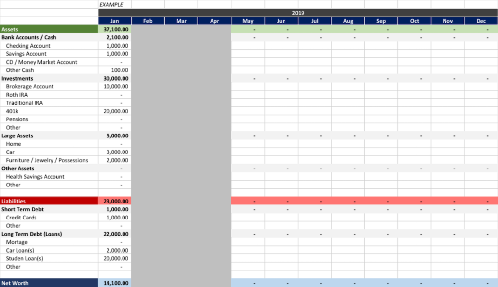 How to Calculate Net Worth - Tool