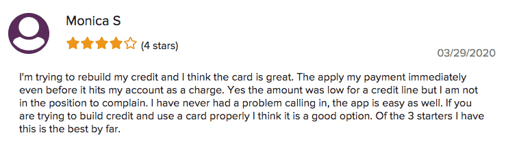 First Savings Credit Card Review 4 Stars